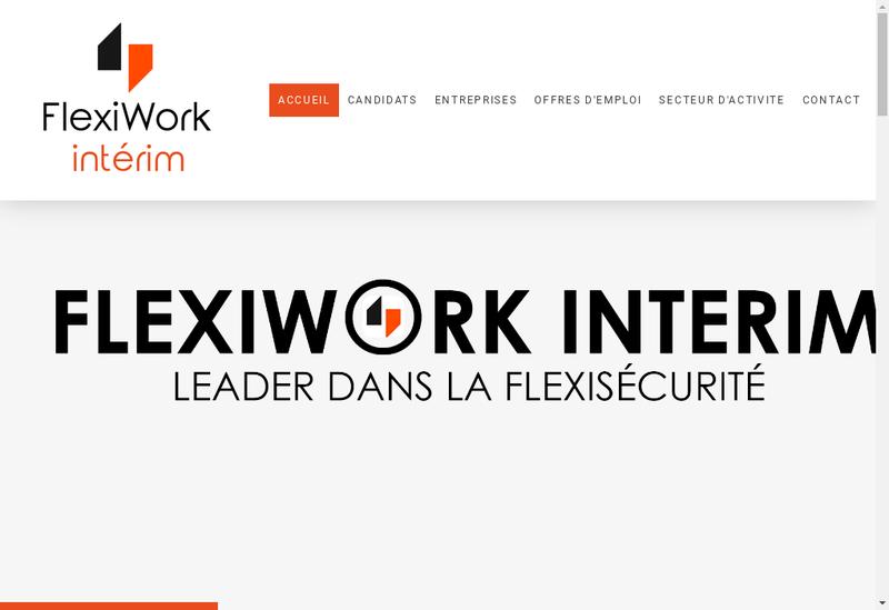 Capture d'écran du site de Flexiwork Interim