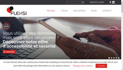 Site internet de Flexsi Groupe