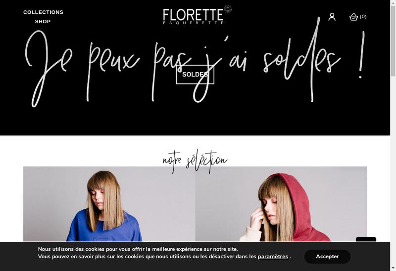 Capture d'écran du site de Florette Paquerette