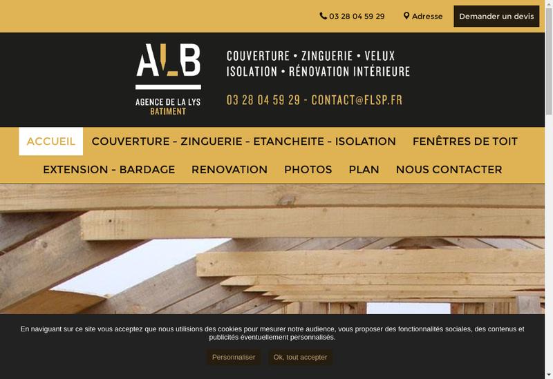 Capture d'écran du site de Agence de la Lys Bat - Renov Tout
