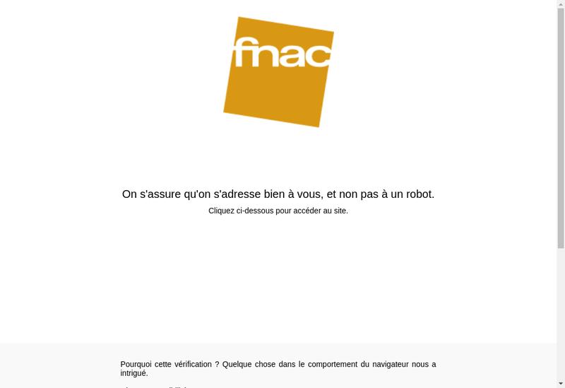 Capture d'écran du site de FNAC