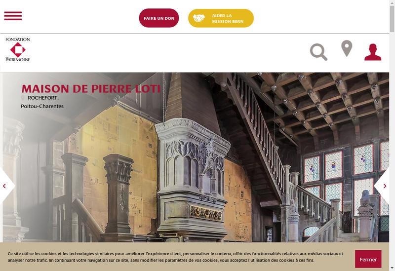 Capture d'écran du site de Renovation Patrimoine