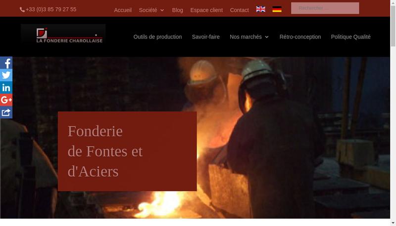 Capture d'écran du site de SA la Fonderie Charollaise