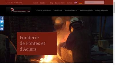 Site internet de SA la Fonderie Charollaise