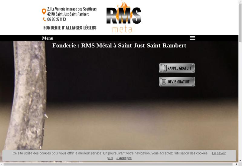 Capture d'écran du site de Rms Metal