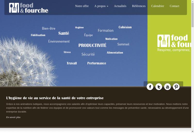 Capture d'écran du site de Food&Fourche