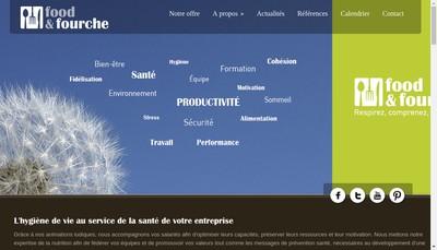 Site internet de Food&Fourche