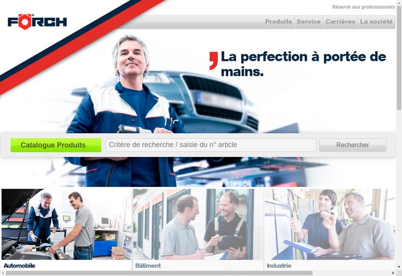 Capture d'écran du site de Forch