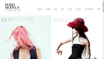 Site internet de Ford Models Paris