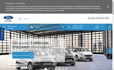 Site internet de Autos Setam 82