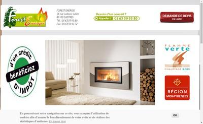 Site internet de Forest-Energie