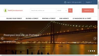 Site internet de Foret Investissement