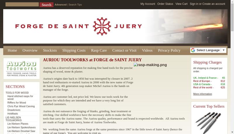 Capture d'écran du site de Forge de Saint Juery