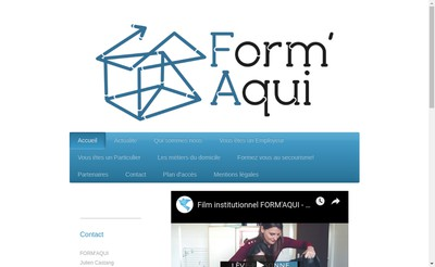 Site internet de Form'Aqui