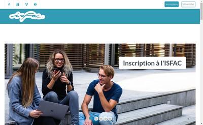 Site internet de Isfac
