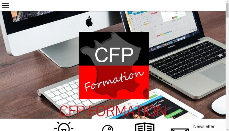 Capture d'écran du site de CFP