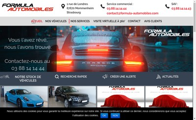 Site internet de Formula Lease