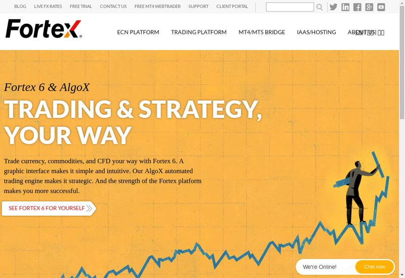 Capture d'écran du site de Fortex