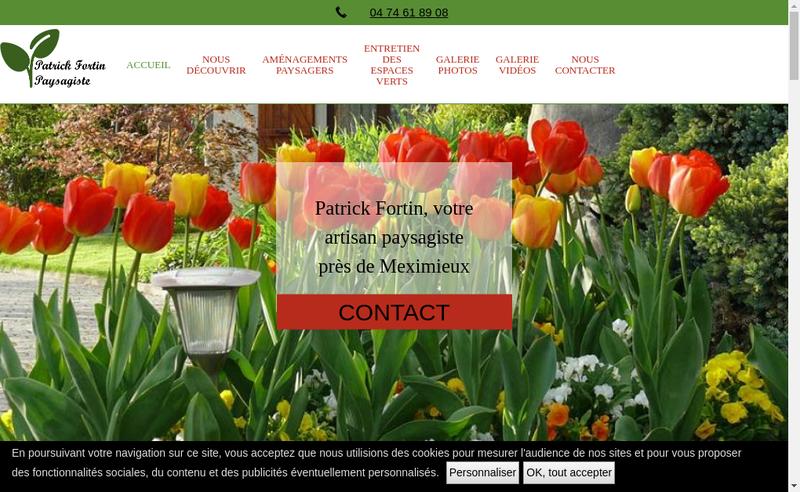 Capture d'écran du site de Patrick Fortin