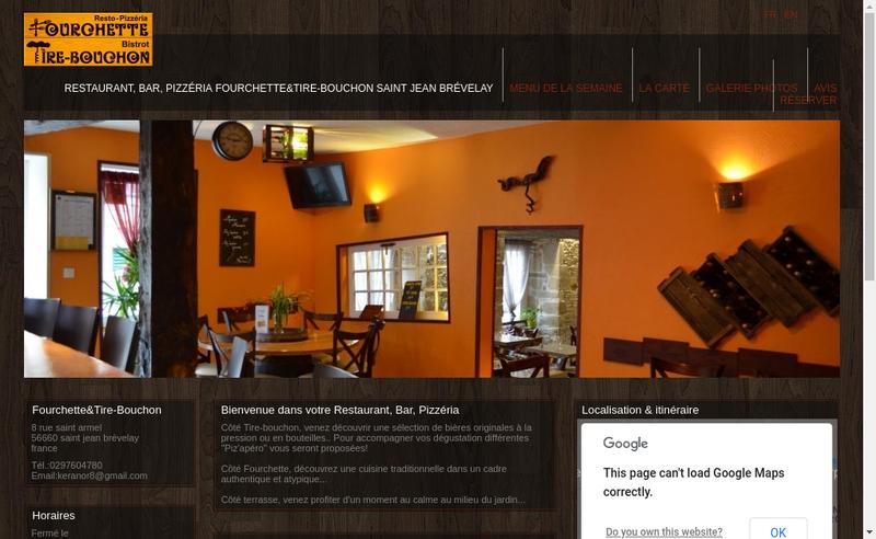 Capture d'écran du site de Fourchette & Tire Bouchon