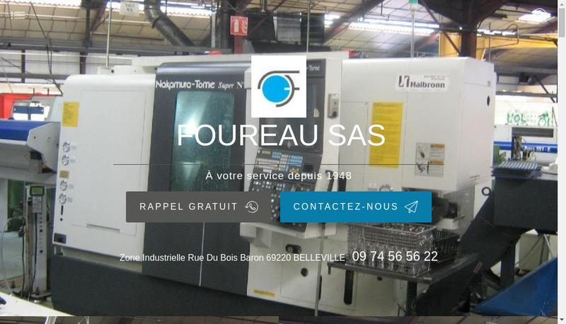 Capture d'écran du site de Foureau SAS