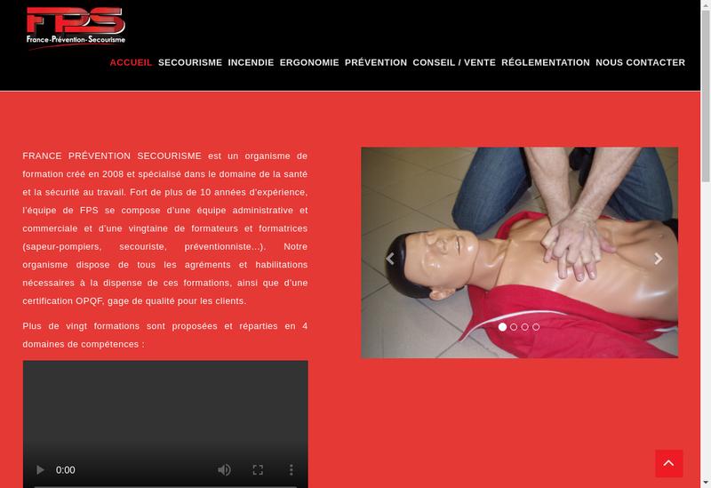 Capture d'écran du site de France Prevention Secourisme