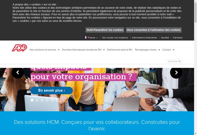 Capture d'écran du site de Adp Gsi France