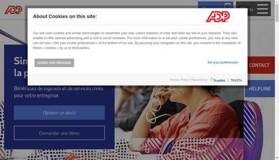 Site internet de Adp Gsi France
