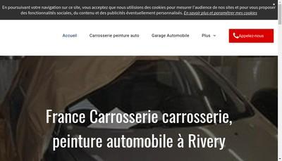 Site internet de France Carrosserie