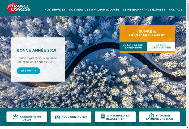 Capture d'écran du site de France Express