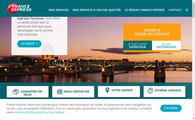 Site internet de France Express