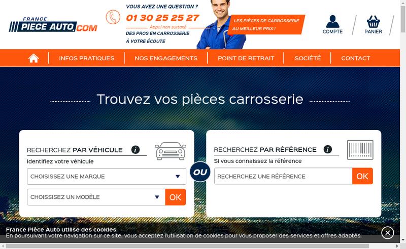 Capture d'écran du site de E Carrosserie