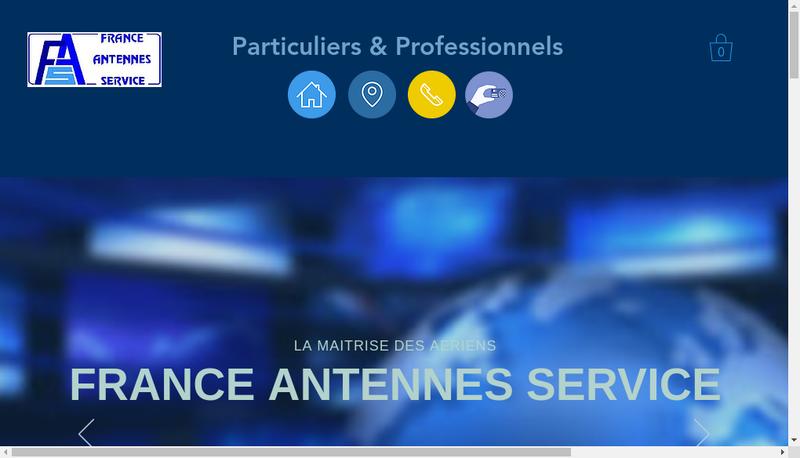 Capture d'écran du site de France Antennes Service