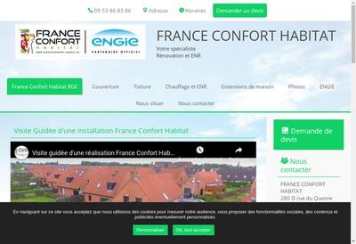 Site internet de France Confort Habitat