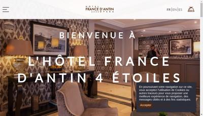 Site internet de Hotel de France d'Antin