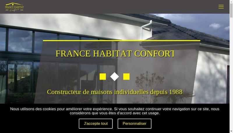 Capture d'écran du site de Agence Conseil Construction Service
