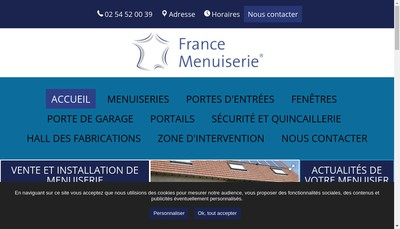 Site internet de France Menuiserie 41