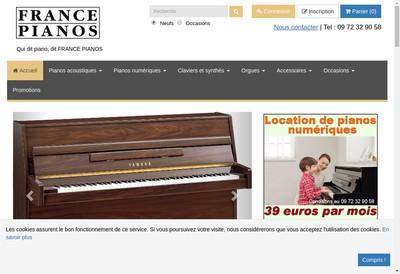 Site internet de France Pianos www.francepianos.com