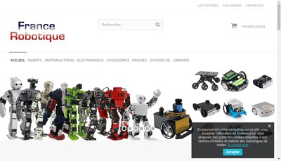 Site internet de France Robotique
