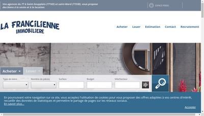 Site internet de La Francilienne Immobiliere