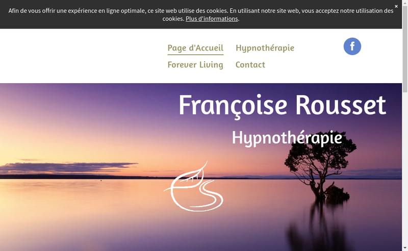 Capture d'écran du site de Francoise Rousset