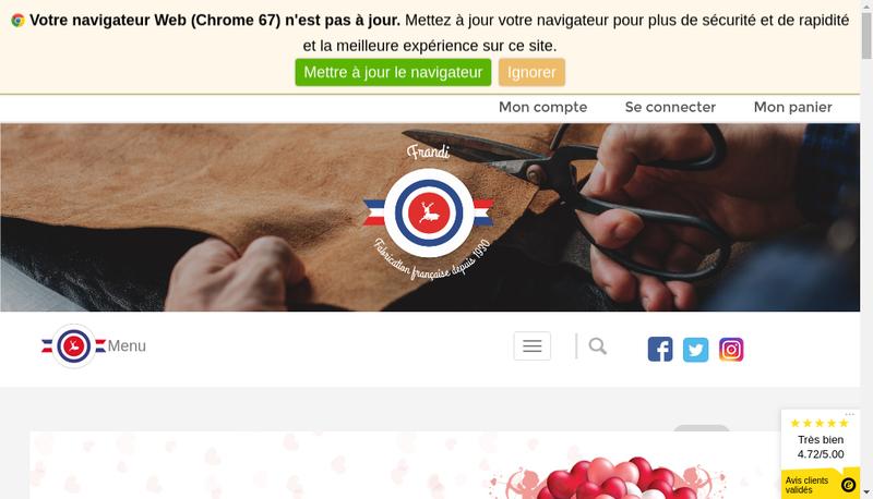 Capture d'écran du site de Le Petit Maroquinier