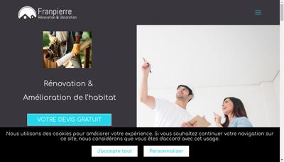 Capture d'écran du site de Franpierre