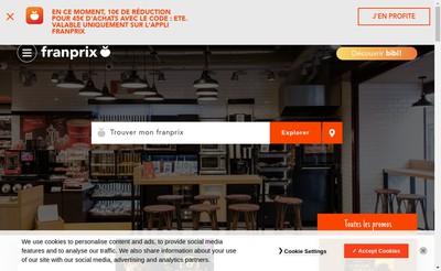 Site internet de Franprix