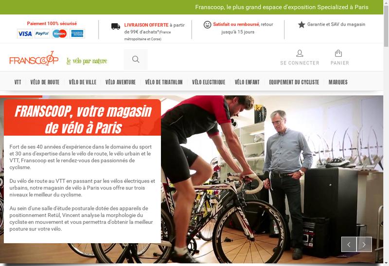 Capture d'écran du site de Franscoop