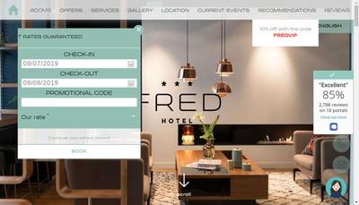Site internet de Fred Hotel