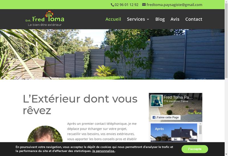 Capture d'écran du site de Fred Toma
