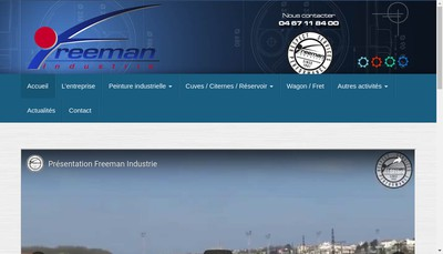 Site internet de Freeman Industrie