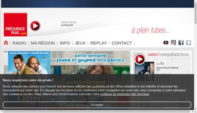 Site internet de Frequence Plus