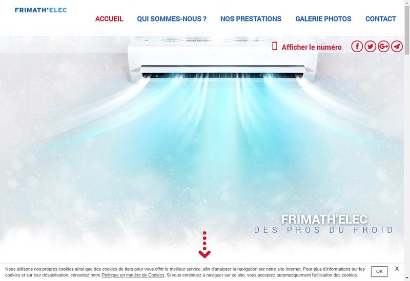 Capture d'écran du site de Frimath'Elec